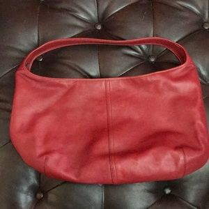 Authentic Coach red leather hobo